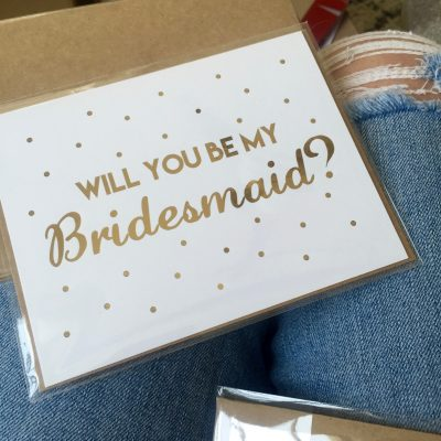 Bridesmaid Boxes- 'Popping' the Question!