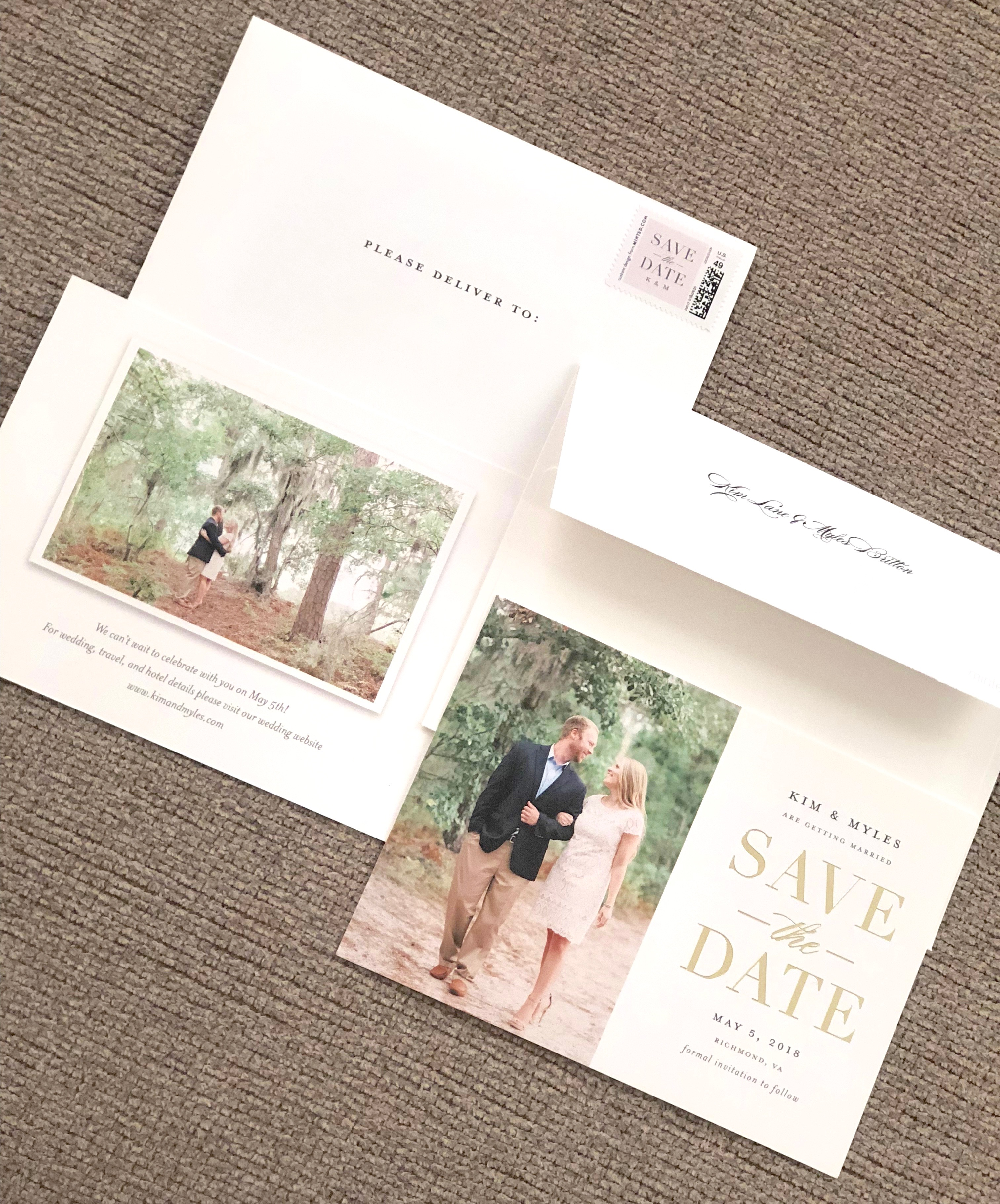 Our Save The Dates Minted Simple Yet